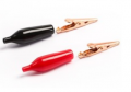 ART. No. CL-205 Small Size Alligator Clip, in Red & Black pairs, $1.00 for 5 Pairs