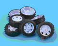 Art. No. WH-108  37*2 off road rubber wheels $1.00 for 2