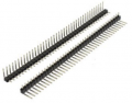 Art No. CON-110  40 Pins 2.54mm spacing right angle strip $1.30 for 3