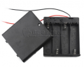 Art. No. BH-506  Four 1.5V AA battery box with cover & switch