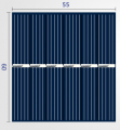Art. No.  SC-308  3V 150ma Solar Cell